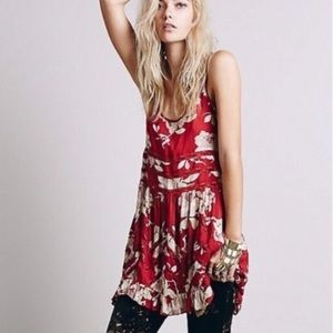 free people || floral trapeze dress/tunic